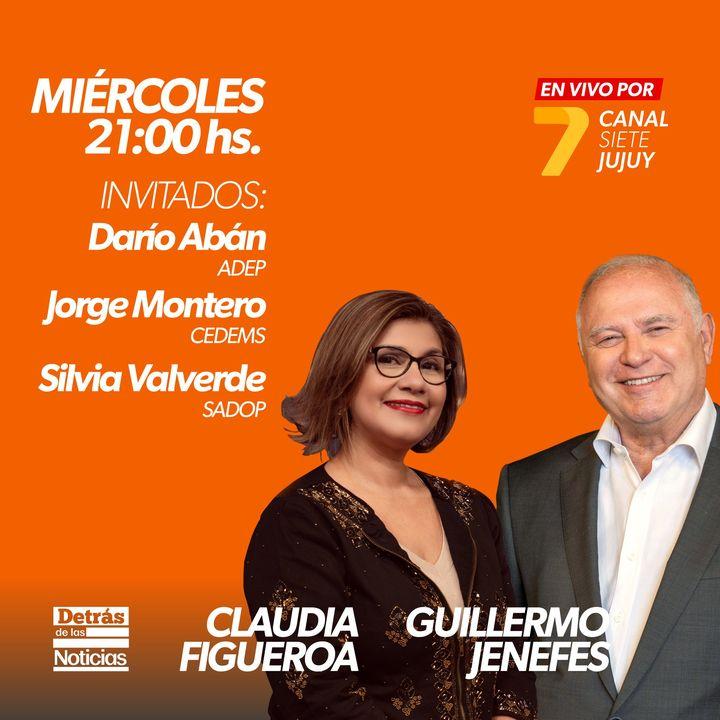Este #miércoles en #detrasdelasnoticias con la conducción de Guillermo Jenefes y Claudia Figueroa INVITADOS: Darío Abán – ADEP J…